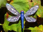 Dragonfly plant stake #2 by HollieBollie