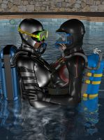 scuba lesson by elenaevil
