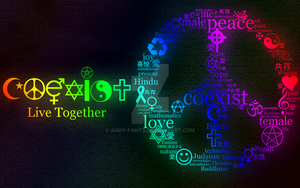 COEXIST - Live Together :D by andy-pants