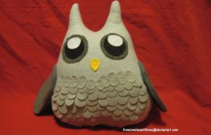 Owl Plushie by fromzombieswithlove