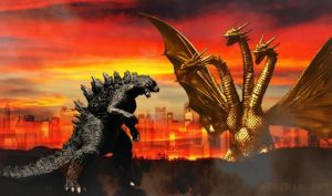 Godzilla 2014 Vs. King Ghidorah 1991 by WoGzilla