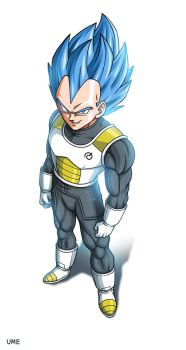 Dragon Ball Z Revival of F - New God Vegeta by oume12