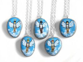 Angel Pendant Necklaces - Short Hair by sobeyondthis