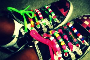 My shoes. by BarfingNeonRainbows