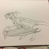 Frost Wyvern by DraconianQueen