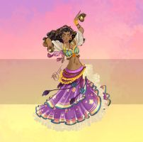 Disney Belly Dancers: Dance la Esmeralda! by Blatterbury