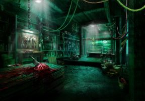 Horror basement by DanielClasquin