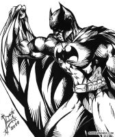 Batman BW by andremirandarosa