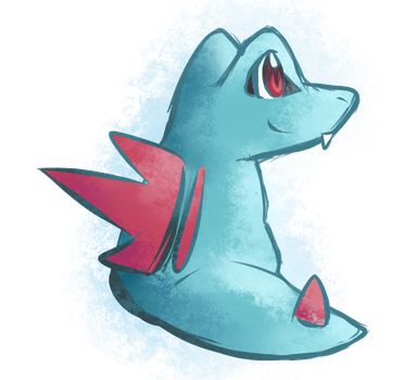 Day 31 Totodile by NeroInu