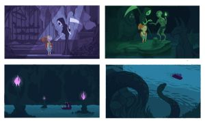 Death and the Little Girl Storyboard 01 by Razulude