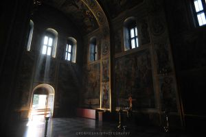 Kyiv cathedral interior by drewhoshkiw