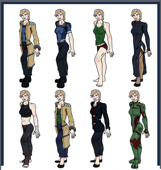 Many outfits of a Irishwoman by New-Ray