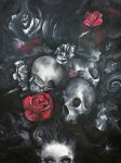 Skulls and Roses - Close-up II by AmethReverie