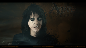 Alice Cooper Vector Art Wall by Indiotoons