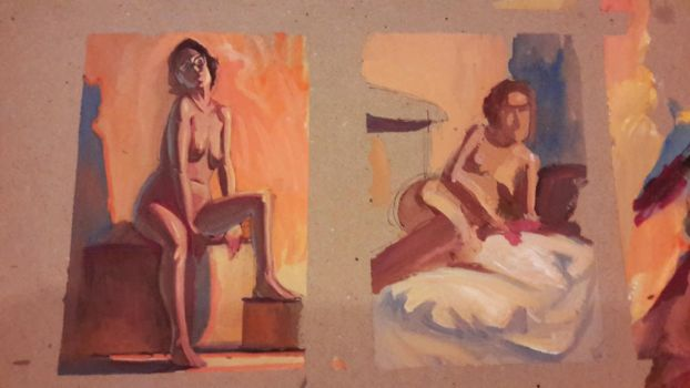 Gouache life drawing by RembertMontald