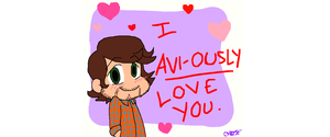 PTX Avi Kaplan Valentine:  I Avi-ously Love You by gleefulchibi