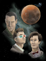 Three Doctor Gallifrey by EdibleElement