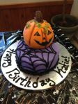 Halloween Birthday Cake by simplysweets