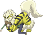 Shiny rubber Arcanine suit TF by AxelWolf04