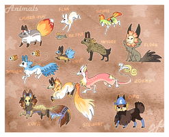 My animal characters by griffsnuff