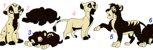 OutLander Cub Adoptables ~ OPen! by Foreverloved525