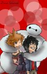 Kingdom Hearts 3 - Sora, Hiro, and Baymax by davidsobo