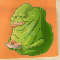 Green Ghost - a.k.a. Slimer V2 by CarlPearce