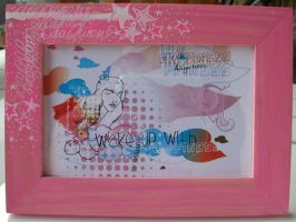 Custom frame pink stars by daqueen-one