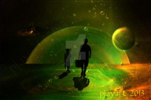 Father and son - The sky is the limit by playart-PSD