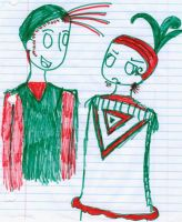 Fun with red and green markers by Whaataa