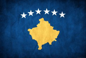 Kosovo Grunge Flag by think0
