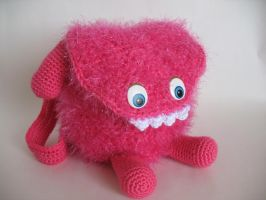 Furry Monster Bag by djonesgirlz