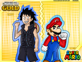 One Piece Film Gold X Super Mario - CROSSOVER ART by FaisalAden