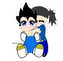 vegeta and yami chibby by QueenYami