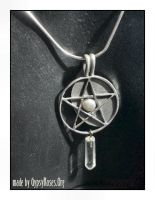 SS Pentacle with Crystal by che4u