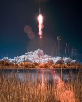 Antares Rocket With Cygnus Spacecraft Launches by Vikutta-Perex