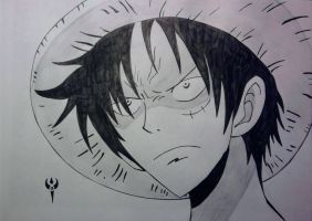 One Piece - Luffy angry by Arenthor