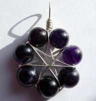 Amethyst Fairy Star Pendant by LWaite