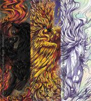 Mythological Creatures Bookmarks by tikopets