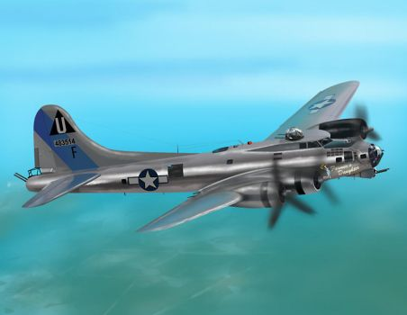 B-17 Flying Fortress by laoscura