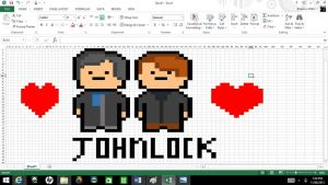 Johnlock  Made on Windows Excel by ShadowVanHelsing