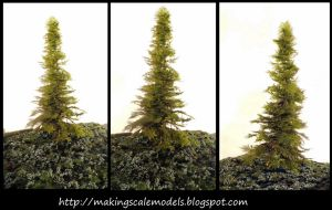 How to make picea abies by Makingscalemodels