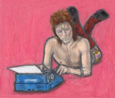 Ziggy Stardust typing by gagambo