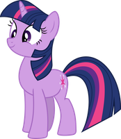 Twilight Sparkle Looking Cute by Mortris