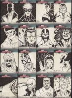 Marvel Cards set 6 by Mulv