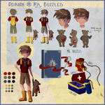 Adrian and Mr Buzzles Reference Sheet by saraah11