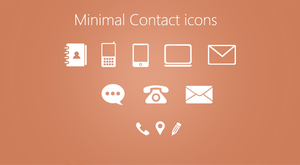 Minimal Contact Icons PSD by cssauthor