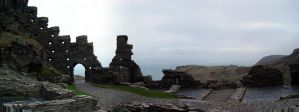 Tintagel Castle ruins Cornwall by sags