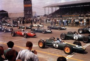 1963 British Grand Prix Start by F1-history