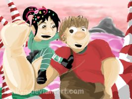 Wreck-It Ralph: Ralph and Vanellope by Tahkyn